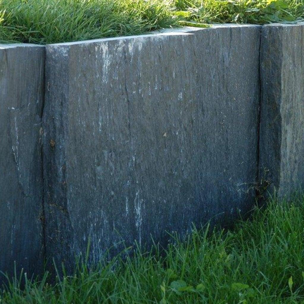 Dalle Ardoise 100 X 30 palis droite ardoise noir, h.50 x l.100 cm