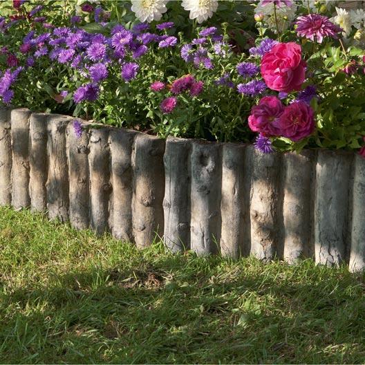 Bordure droite stonewood pierre reconstitu e marron x cm leroy merlin - Bordure jardin pierre reconstituee ...