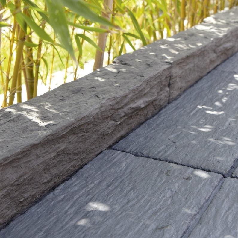 Bordure droite Morbihan pierre reconstituée gris, H.10 x L.50 cm ...