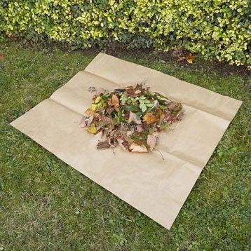 Bâche compostable GEOLIA carrée 100 x 80 cm marron