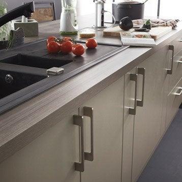 plan de travail droit stratifi c ramique wood gris 315 x. Black Bedroom Furniture Sets. Home Design Ideas