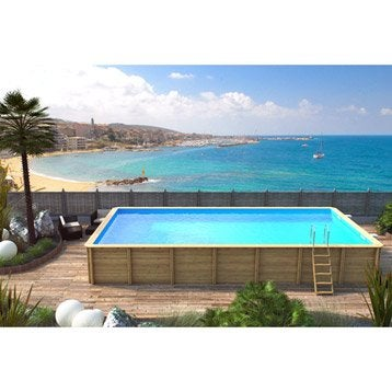 Piscine piscine hors sol gonflable tubulaire leroy for Piscine hors sol bois 10 x 5