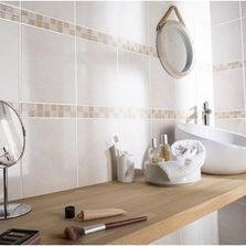 Faïence mur beige, Olympe l.20 x L.25 cm