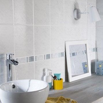 Faïence mur blanc, First l.20 x L.25 cm