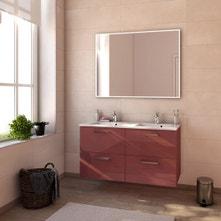 Meuble de salle de bains plus de 120, rouge, Neo line