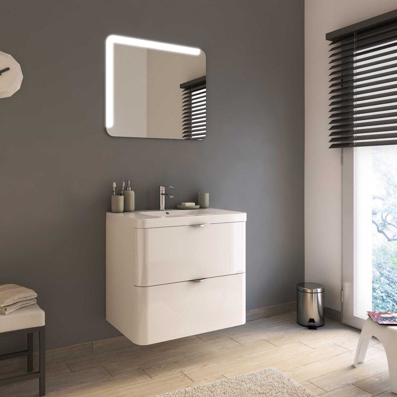 Salle De Bain Neo Shine ~ meuble de salle de bains de 60 79 blanc neo shine leroy merlin