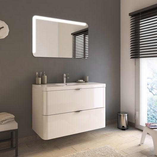 Meuble de salle de bains de 100 119 blanc beige Meuble salle de bain beige