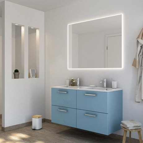 Meuble salle de bain meuble sous vasque colonne miroir for Meuble concept plus