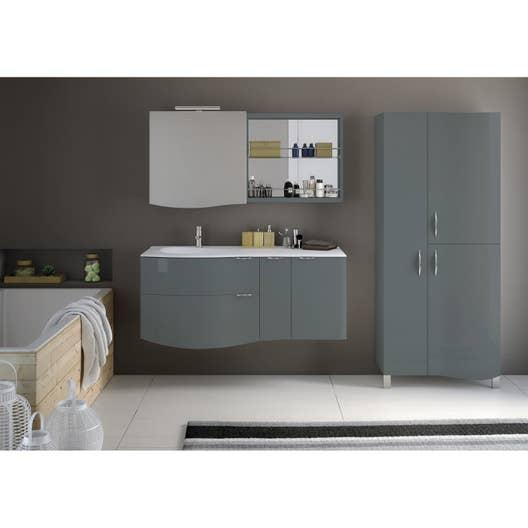 meuble de salle de bains plus de 120 vert elegance leroy merlin. Black Bedroom Furniture Sets. Home Design Ideas