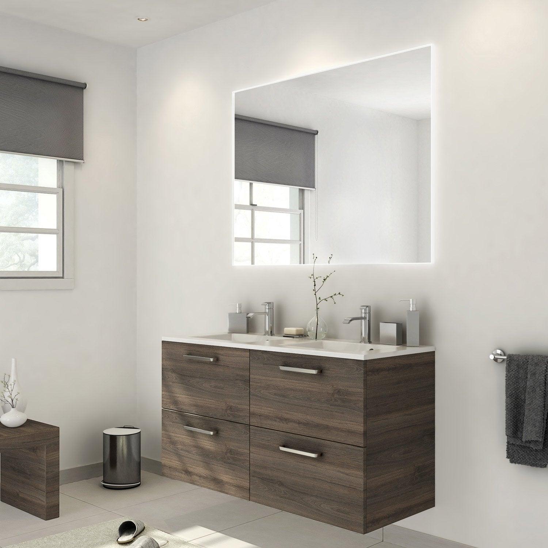 Meuble de salle de bains plus de 120, marron, Neo line