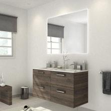 Meuble de salle de bains plus de 120, brun / marron, Neo line