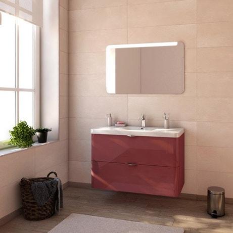 Meuble de salle de bains de 100 à 119, rouge, Neo shine