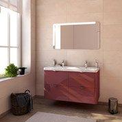 Meuble de salle de bains plus de 120, rouge, Neo shine