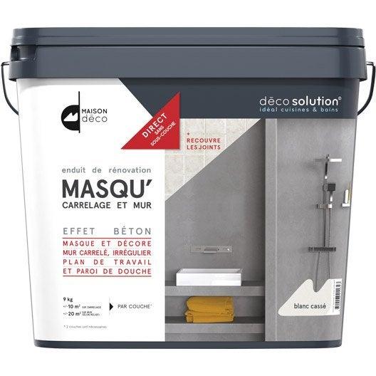 enduit masqu 39 carrelage et mur maison deco blanc cass 9 kg leroy merlin. Black Bedroom Furniture Sets. Home Design Ideas