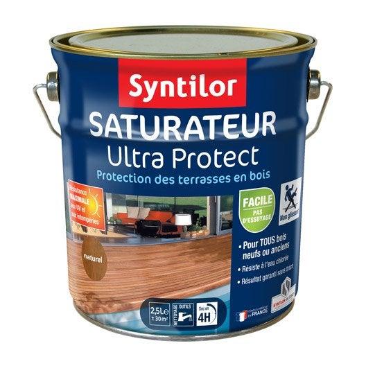 Saturateur pour bois ultra protect syntilor naturel 2 5 l leroy merlin - Saturateur terrasse bois ...