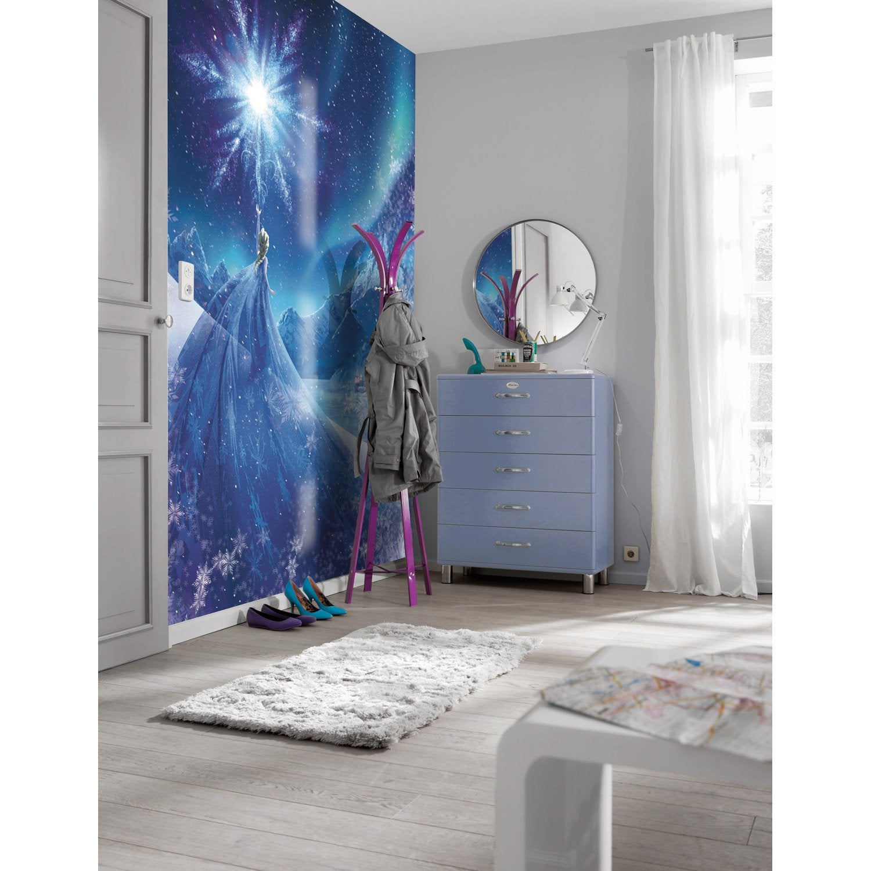 photo murale reine des neiges bleu vert mauve papier. Black Bedroom Furniture Sets. Home Design Ideas