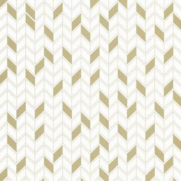 a3925ef6df8 Papier peint géométrique blanc et or intissé shine