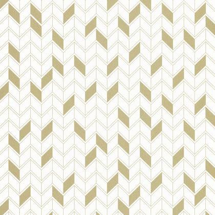 Papier peint intissé SHINE Géométrique blanc/or | Leroy Merlin