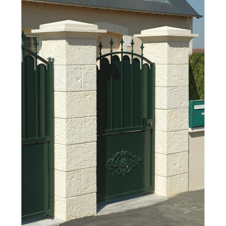 el ment de pilier classique rouergue imit pierre beige h. Black Bedroom Furniture Sets. Home Design Ideas