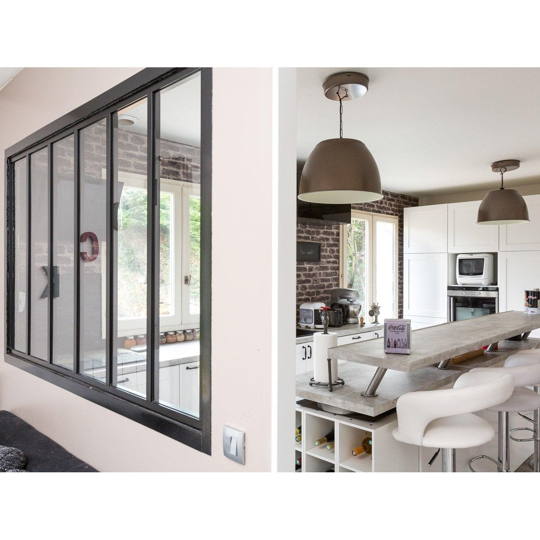 verri re atelier en kit aluminium noir vitrage non fourni h x l m leroy merlin. Black Bedroom Furniture Sets. Home Design Ideas