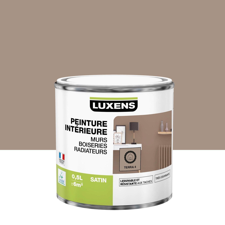 Peinture mur, boiserie, radiateur Multisupports LUXENS, terra 4, 0.5 l, satin