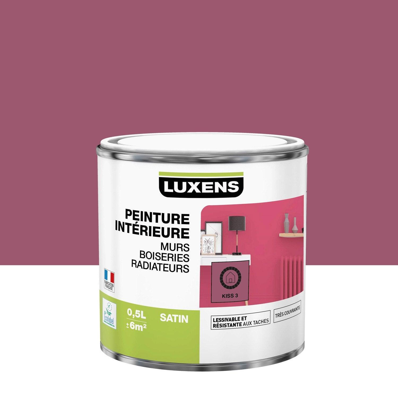 Peinture mur, boiserie, radiateur Multisupports LUXENS kiss 3 satiné 0.5 l