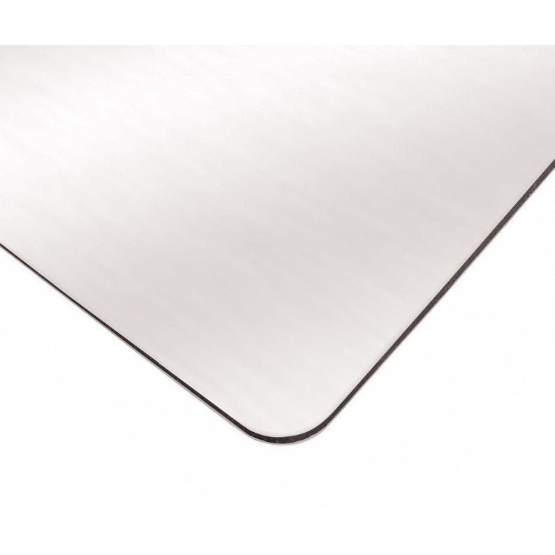 Plaque Lisse Aluminium Composite Blanc L200 X L100 Cm Ep3 Mm