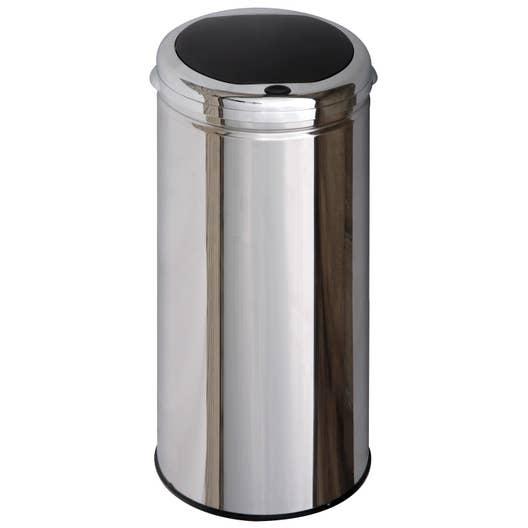 poubelle de cuisine manuelle selekta plastique inox 40 l leroy merlin. Black Bedroom Furniture Sets. Home Design Ideas