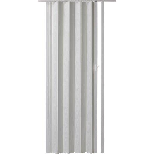 Porte extensible rio fr ne blanc 205 x 85 cm pais d for Porte accordeon leroy merlin