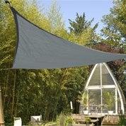 Voile d'ombrage triangle ardoise L.360 x l.360 cm