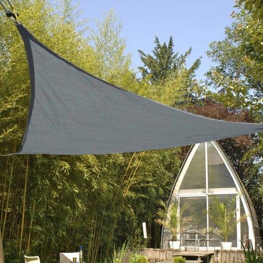 voile d 39 ombrage triangle ardoise x cm leroy. Black Bedroom Furniture Sets. Home Design Ideas