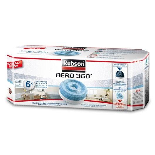 Lot de 6 recharges tablette pour absorbeur d 39 humidit a ro - Absorbeur d humidite efficace ...