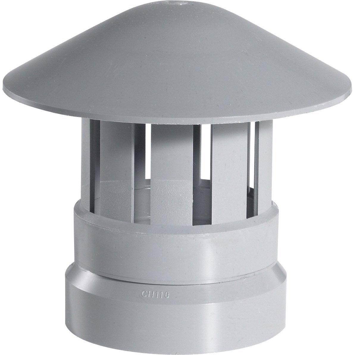 Chapeau De Ventilation Femelle Pvc Gris Girpi Diam100 Mm