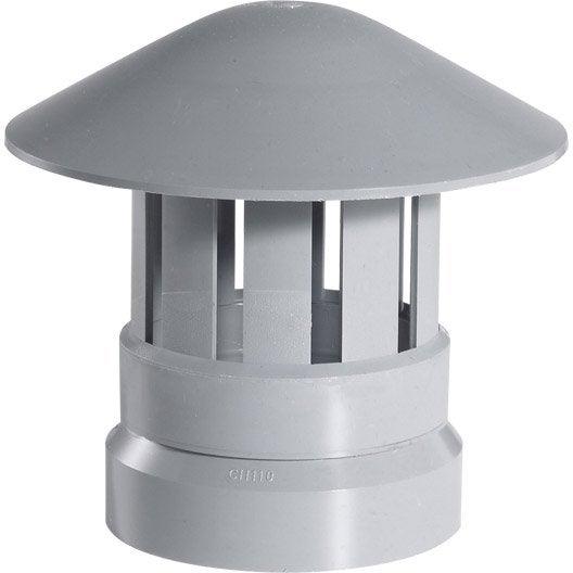 chapeau de ventilation femelle pvc gris girpi mm leroy merlin. Black Bedroom Furniture Sets. Home Design Ideas