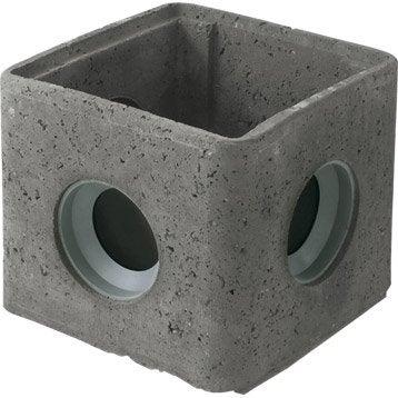 Regard à joints incorporés Rmj30 béton, L.300 x l.300 mm