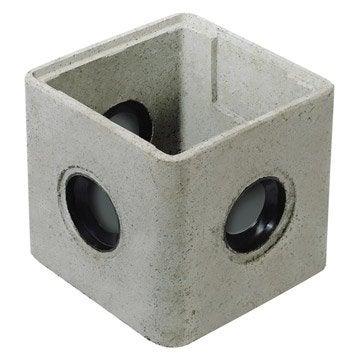 Regard à joints incorporés Rmj25 béton, L.250 x l.250 mm