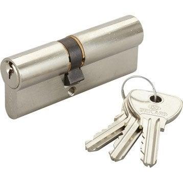 Cylindre de serrure 35+45 mm, 5 goupilles, BRICARD modèle Alpha