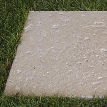 Dalle de cheminement pierre reconstituée crème, Cathare