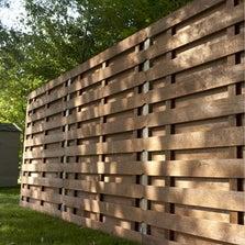 Panneau bois occultant Oxford, l.180 cm x h.180 cm, marron