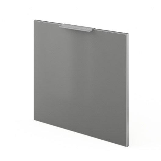 Porte pour lave vaisselle int grable de cuisine gris f60 for Porte de 60 cm