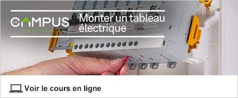 Tableau lectrique electricit domotique leroy merlin - Monter un tableau electrique ...