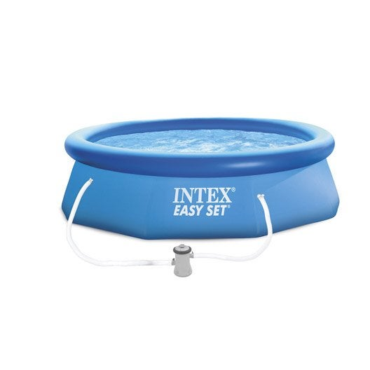 piscine hors-sol autoportante gonflable easy set intex, diam.3.05