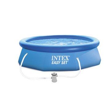 Piscine hors-sol autoportante gonflable Easy set INTEX, Diam.3.05 x H.0.76 m