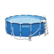 Piscine piscine hors sol gonflable tubulaire leroy for Piscine hors sol 4 57 x 1 07 m easy set intex