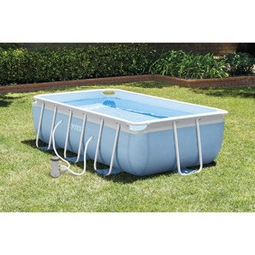 Piscine piscine hors sol gonflable tubulaire leroy - Piscine rectangulaire intex tubulaire ...