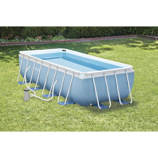 Piscine hors sol tubulaire prism intex l 5 4 x l x h for Piscine intex 5 m