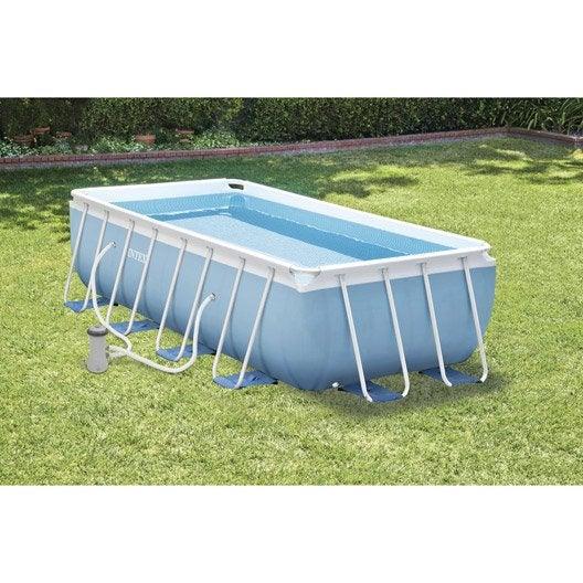 Piscine piscine hors sol bois gonflable tubulaire for Piscine intex tubulaire 3 66