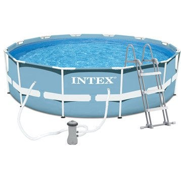 Piscine piscine hors sol gonflable tubulaire leroy for Piscine intex 4 57