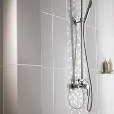 Faïence mur gris galet n°5, Loft brillant l.20 x L.50.2 cm
