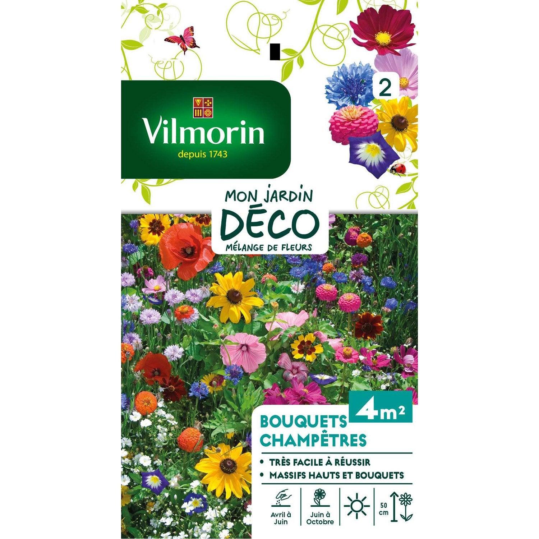 Mélange de fleurs pour bouquet champêtre multicolore   Leroy Merlin